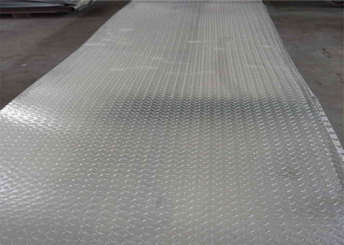 5052 5083 H12 H14 Ribbed Embossed Aluminum Sheet  / Aluminum Tread Plate For Ship