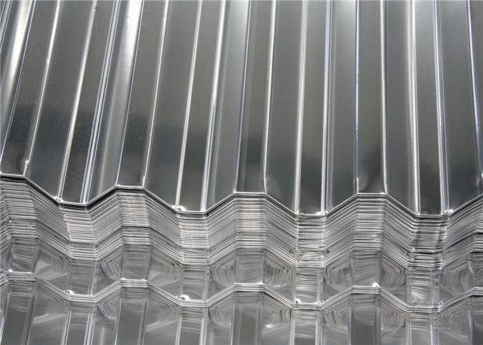 Aluminum Magnesium Corrugated Roof Panels / Metal Roofing Sheet Width 500 - 1500 mm