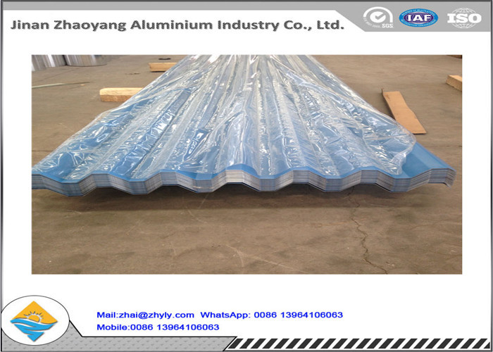 Color Coated Corrugated Aluminum Roofing Sheet / Zinc Aluminum Roofing Sheet  0.8mm Thickness